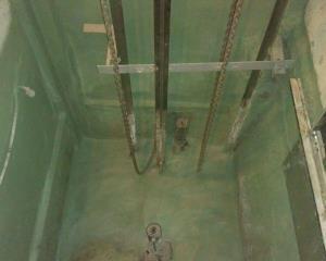 بازسازی ساختمان - آب بندی چاله آسانسور